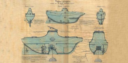 Barco submarino, 1861